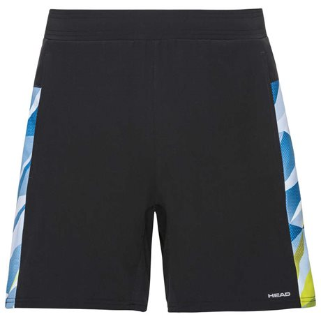 HEAD Medley Shorts Men Black/Sky Blue