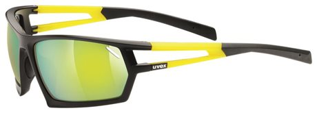 UVEX SGL 704, BLACK MAT YELLOW