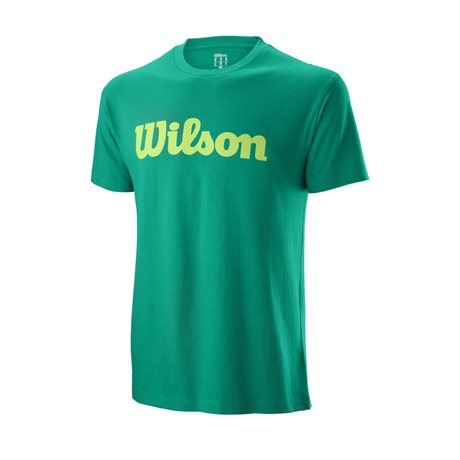 Wilson M Script Cotton Tee Deep Green/Sharp Green