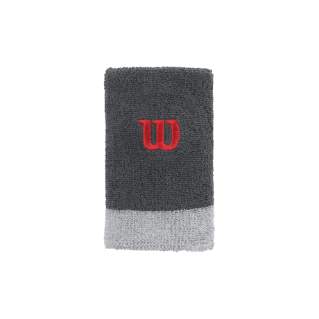 Wilson Extra Wide Wristband W Grey