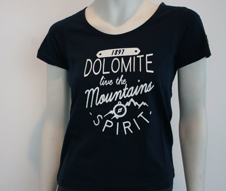 Dolomite T-Shirt Spirit Wt Blue Navy