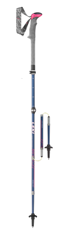 Leki Micro Vario Carbon Lady blue/berry/white 100 - 120 cm 6492067 2020
