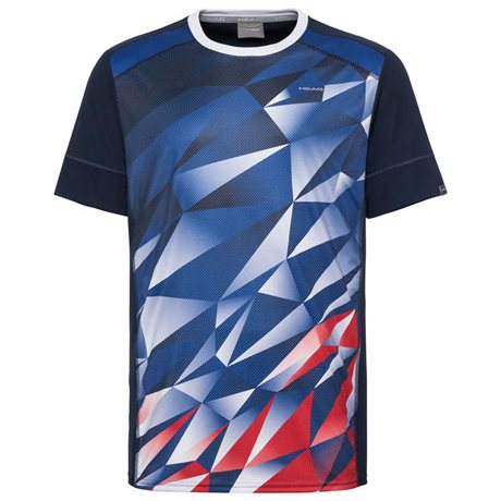 HEAD Medley T-Shirt Men Royal Blue/Red