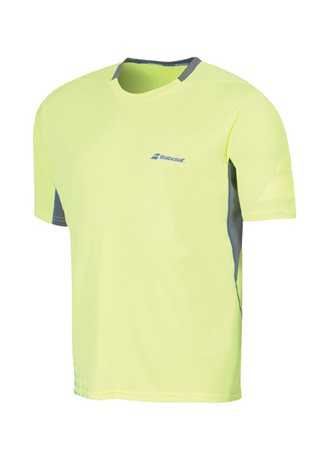 Babolat Crew Neck Tee Men Performance Yellow 2016