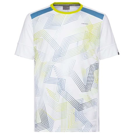 HEAD Racquet T-Shirt Men White/Sky Blue