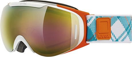 UVEX G.GL 9 RECON READY white orange dl/ltm gold S5507001126
