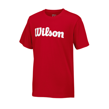 Wilson Y Script Cotton Tee Red
