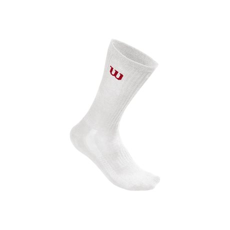 Wilson M Crew Sock 3 Pair/Pack White