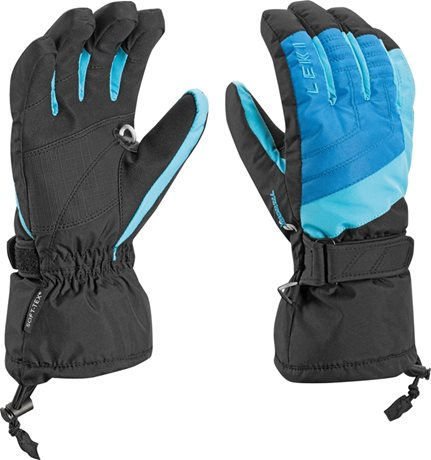 Leki Flims S Boy royal-cyan-black 63488001