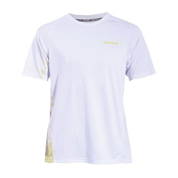 Produkt Babolat Performance Men TEE Crew Neck White/Dark Yellow
