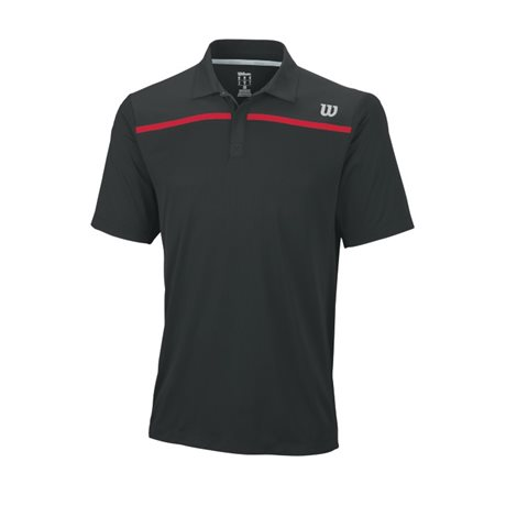 Wilson Knit-Stretch Woven Polo Black